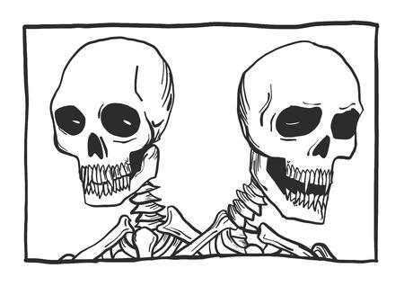 それは、骨格のイラストです。