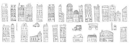 街並みのイラストです。  イラスト・ベクター素材