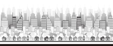 Het is een illustratie van het stadsbeeld.
