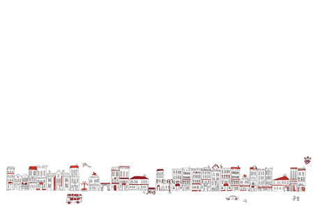 It is an illustration of the cityscape.