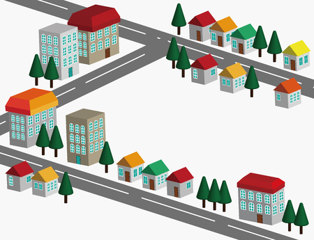 real estate house: Icon illustration of the house. It is a vector illustration. Illustration