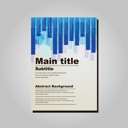 ビジネスで使用できるベクター素材のテンプレートです。 B4 サイズ 257 × 364 mm