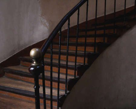 Stairways in an old Apartment building in Paris France