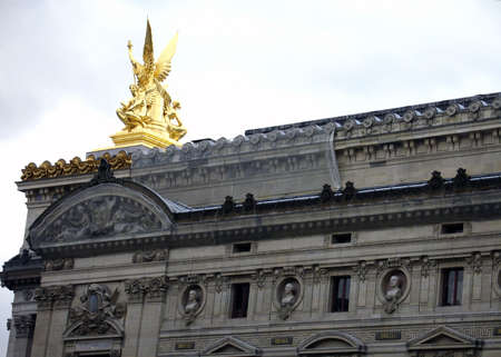 An unusual view of the Opera House in Paris
