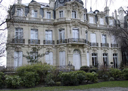 An aristocratic home outside the city of Granville in Normandy Banco de Imagens