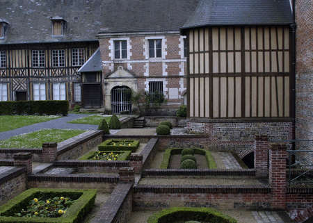 Chateau and Garden in the city of Eu  in the Normandy region Of France