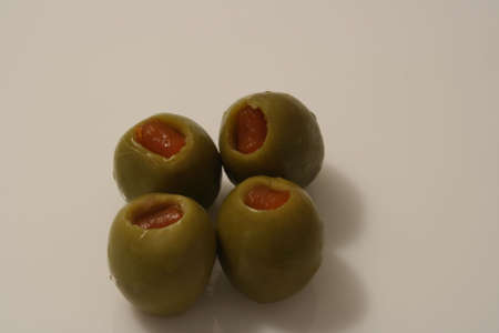 Four Olives ready for eating