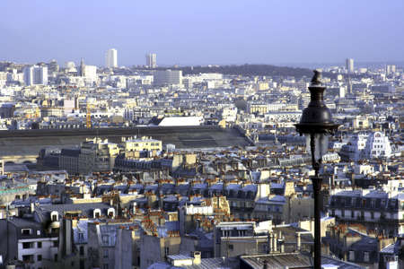 a view of Paris France from tne Montrmartre area