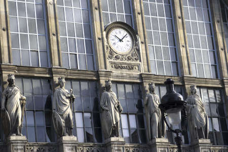 Paris train station with clock and statues Stock Photo - 1063807