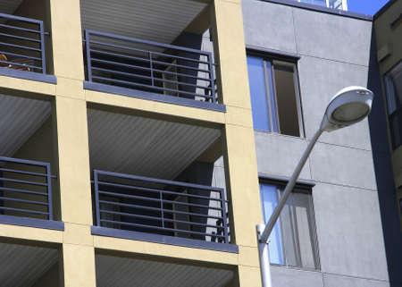 condos: Condos with street lamp