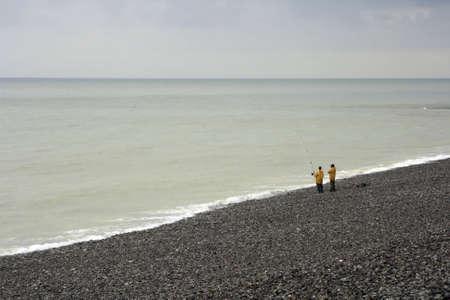 Fishing along the Normandy Coast