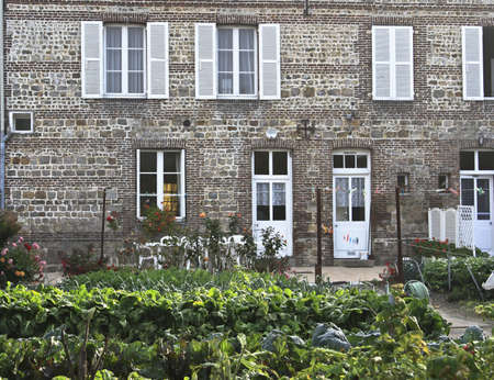 Country home in the city of Vittefleur France with vegetable garden photo