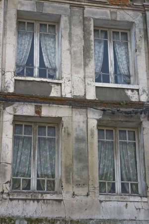 residence: Residence in need of repairt Dieppe France Stock Photo