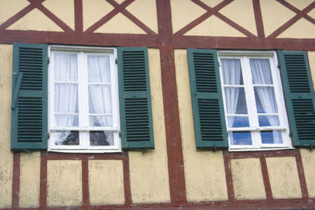 half  timbered: Half timbered French home