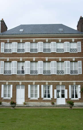 residence: Classical Brick residence in France Stock Photo