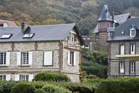 French historical village in an isolated area of Normandy photo