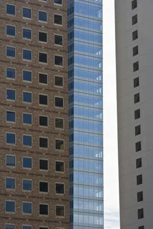 Three modern skyscrapers