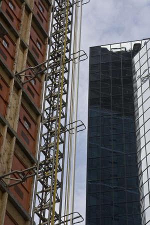 Modern skyscraper construction in a growing urban area Zdjęcie Seryjne
