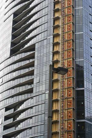 Modern tall skyscraper construction