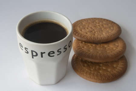 expresso: Expresso coffee and cookies