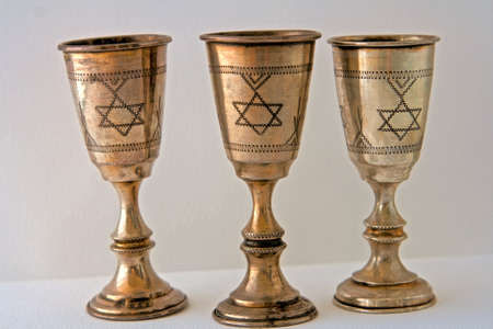 Judaism and the holy cup of kiddush photo
