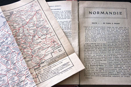 Normandy France guidebook and map