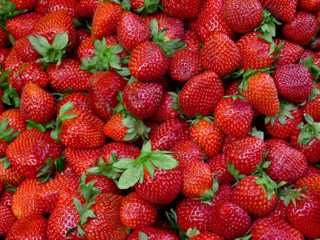 Fresh Strawberries at a market in Paris