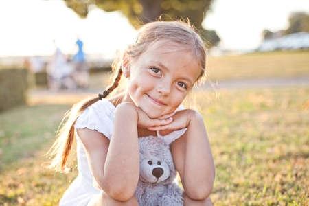 Happy child in a park Reklamní fotografie