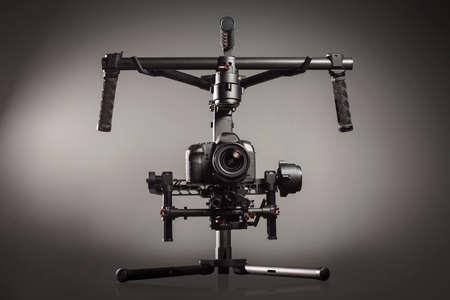 Video production stabilization gimball slr mount Reklamní fotografie - 37780080
