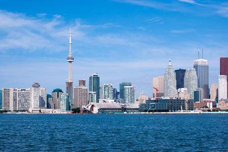 Toronto skyline under a clear sky photo