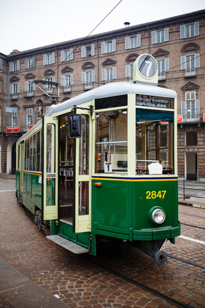 tramway: Vintage historical tramway train in Turin, Italy