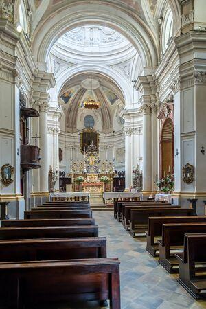 church interior: Italian baroque church interior view
