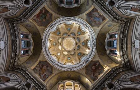 baroque architecture: Turin, San Lorenzo church, baroque, architecture, interior
