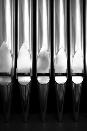 pipe organ: organ pipe detail Stock Photo