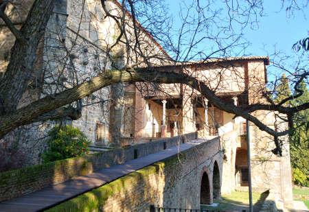 Last residence of Emperor Charles V at Yuste Monastery  Spain Editorial