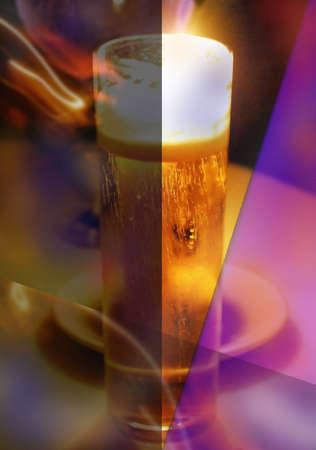 Insuperable desire over a glass of cold beer  Stock Photo