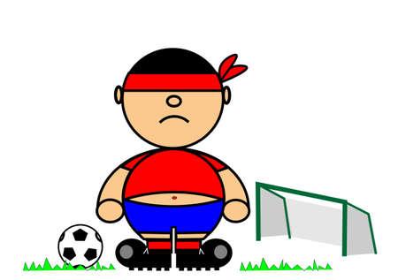 Vector representing Kiki dress of footballer Illustration