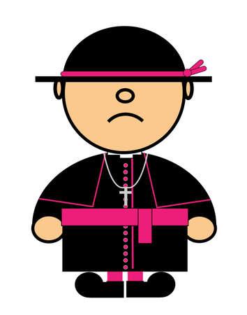 representing Kiki dress of Catholic cardinal Illustration