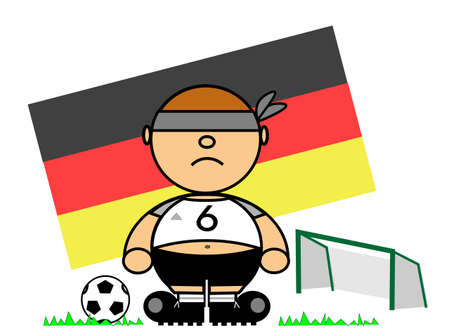 representing Kiki dress of footballer and flag of Germany Stock Vector - 17092313