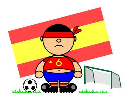 representing Kiki dress of footballer and flag of Spain Stock Vector - 17092312