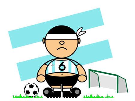representing Kiki dress of footballer and flag of Argentina Stock Vector - 17151750