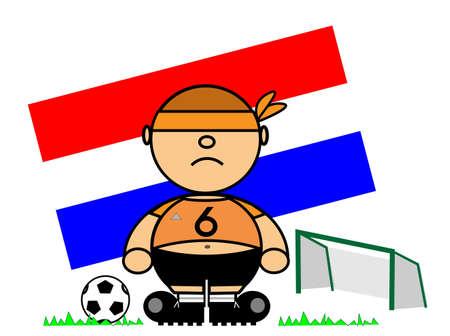 representing Kiki dress of footballer and flag of Holland Stock Vector - 17151751