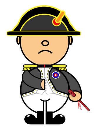 napoleon: Vector vertegenwoordigt Kiki jurk van Napoleon