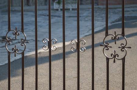 Wrought iron fence with ironwork