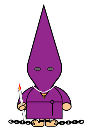 representing Kiki dress of Catholic penitent