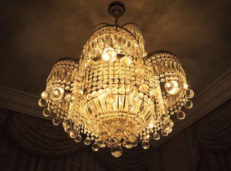 Chandelier lamp in crystal of Murano