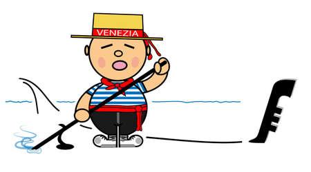 Vector representing Kiki dress of gondolier Venice Illustration