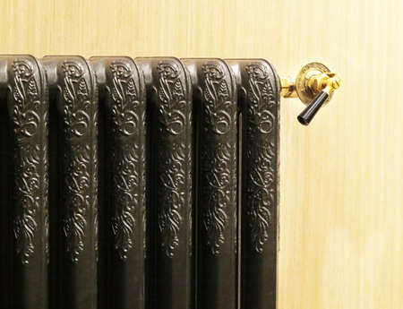 Classical heating radiator inn black color