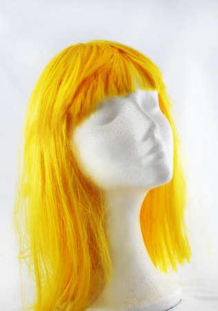 Model of polystyrene yellow wig lit study Stock Photo