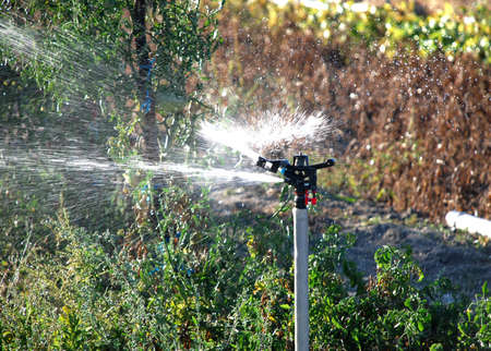 Irrigation in cultivated field mechanism spraying